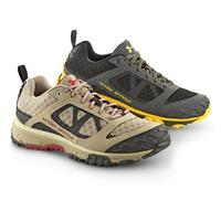 Men's Under Armour(R) Trail Shoes, Tan / Red and Black / Yellow