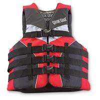 Guide Gear Neoprene / Nylon Life Jacket, Red / Black