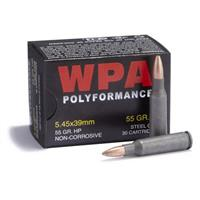 WPA™ Performance 5.45x39, 55 Grain HP Ammo, 30 rounds