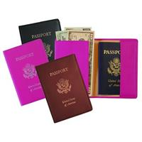 Royce® Foil Stamped Leather RFID-blocking Passport Jacket