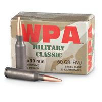 Wolf, 5.45x39mm, FMJ, 60 Grain, 360 Rounds