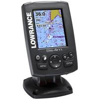 Lowrance® Elite-4m Gold Package GPS Chartplotter with Navionics® Gold Maps