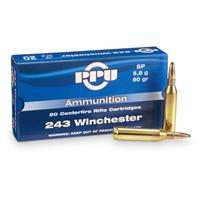 PPU .243 Win 90 Grain SP 20 rounds