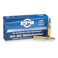 PPU, .30-30 Winchester, SP, 170 Grain, 20 Rounds