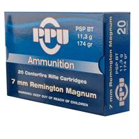 PPU, 7mm Remington, PSP-BT, 174 Grain, 20 Rounds