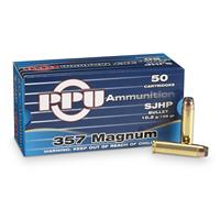 PPU® .357 Mag. 158 Grain SJHP 50 rounds