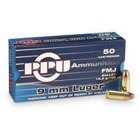 PPU 9mm Luger 158 Grain FMJ 50 rounds