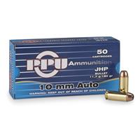 PPU, 10mm Auto, JHP, 180 Grain, 50 Rounds