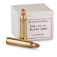 PPU M200 Standard Blank Ammo, 5.56x45mm NATO, 20 Rounds