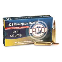 PPU .223 Rem. 69 grain Match HPBT 20 rounds