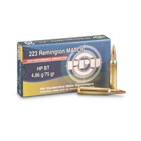 PPU, .223 Remington, Match HPBT, 75 Grain, 20 Rounds