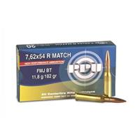 PPU 7.62 x 54R 182 Grain Match FMJ 20 rounds