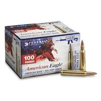 Federal American Eagle .223, 55 Grain, FMJ, 100 Rounds