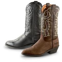 "Guide Gear Men's 12"" Cowboy Boots, Black / Tan"