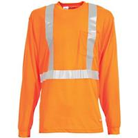 Berne® High-Visibility Long-sleeve Pocket T-Shirt, Orange