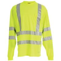 Berne® High-Visibility Long-sleeve Pocket T-Shirt, Yellow