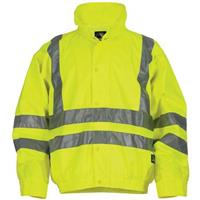 Berne® High-Visibility Waterproof Safety Jacket, Yellow