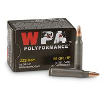 Wolf WPA Polyformance, .223 Remington, FMJ, 62 Grain, 500 Rounds