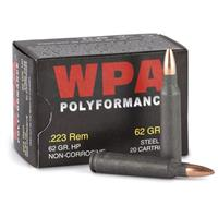 WPA, Polyformance, .223 Rem., HP,  62 Grain, 100 Rounds