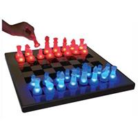 LED Glow Chess Set, Blue / Red