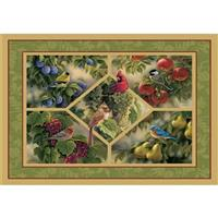 """Bluebirds and Pears"" Floor Mat from the Wild Wings Collection®"