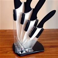 Stone River 4-Pc. Ceramic Knife Set with Acrylic Holder