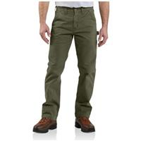 Men's Carhartt® Workwear Washed Relaxed Fit Twill Dungaree Jeans, Army Green