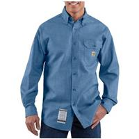 Men's Carhartt® Flame-resistant Chambray Work Shirt, Blue