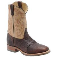 Men's Double H Boots® Steel Wide Square Toe ICE™ Roper Cowboy Boots, Briar / Echo taupe