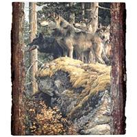 "Walnut Hollow® ""Lookout Tower-Wolves"" Wall Art by Carl Brenders, Rectangle"
