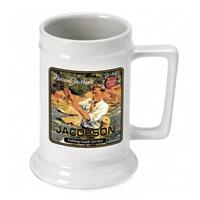 Personalized Fishing Guide Beer Stein