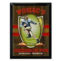Personalized Traditional Gridiron Pub Sign