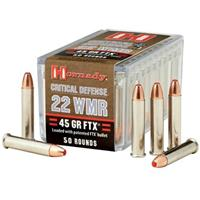 Hornady Critical Defense .22 WMR 45 Grain FTX Ammo, 50 rds.