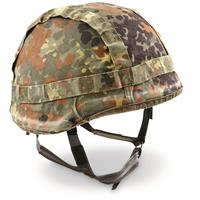 NATO Military Surplus Flecktarn Camo Helmet with Kevlar, Used
