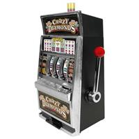 Trademark Games™ Crazy Diamonds™ Slot Machine Bank With 100 Tokens