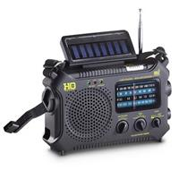 HQ ISSUE Multi-Band Dynamo & Solar Powered Radio, Black