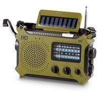 HQ ISSUE Multi-Band Dynamo & Solar Powered Radio, Olive Drab