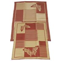 6x9 foot Elegant Butterfly Indoor / Outdoor Reversible RV Mat from Fireside Patio Mats™