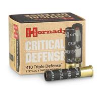 20 rounds of Hornady Critical Defense 410 Triple Defense Ammo