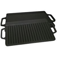 "King Kooker 14x28"" Cast Iron Two-Sided Griddle"