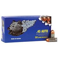 Silver Bear, .45 ACP, FMJ, 230 Grain, 500 Rounds