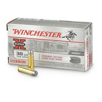 Winchester Cowboy Loads, .38 Special, LFN, 158 Grain, 50 Rounds