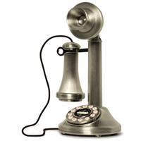 Crosley® Brushed Chrome Candlestick Phone