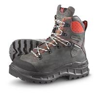 Men's S3™ Chainsaw Waterproof Steel Toe Boots, Gray / Red