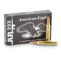 Federal American Eagle, .223 Rem., FMJ-BT, 55 Grain, 20 Rounds