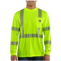 Men's Carhartt® Force™ Class 3 High-visibility Long-sleeve T-shirt, Brite Lime