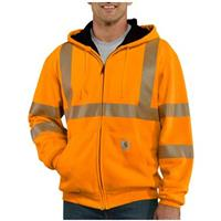Men's Carhartt® Class 3 High-visibility Thermal Hooded Sweatshirt, Brite Orange