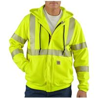Men's Carhartt® Flame-resistant High-visibility Work Sweatshirt, Lime