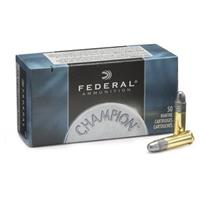 Federal Champion, .22LR, LRN, 40 Grain, 50 Rounds