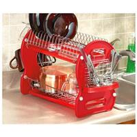 2-tier Dish Drainer, Red